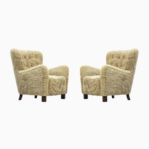 1669 Lounge Chairs from Fritz Hansen, 1940s, Set of 2