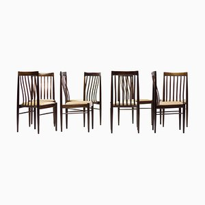 Danish Mahogany Dining Chairs by H.W. Klein, 1960s, Set of 8