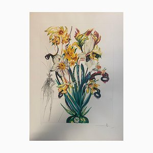 Impresión Narcissus and Phone de Salvador Dali para Edition Graphiques International, 1972