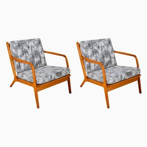 Chaise Lounges in the style of Adrian Pearsall, 1960s, Set of 2