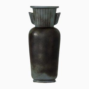 Vaso in gres di Gunnar Nylund per Rörstrand, anni '40