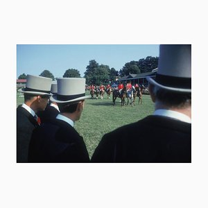 Dublin Horse Show C Print Framed in Black by Slim Aarons