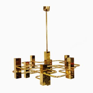 Chandelier with 9 Lightpoints by Gaetano Sciolari for Boulanger, 1970s