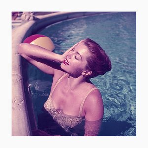 Esther Williams C Print Framed in White by Slim Aarons