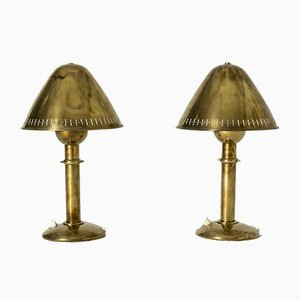 Messing Tischlampen von Unknown für ASEA, 1950er, 2er Set