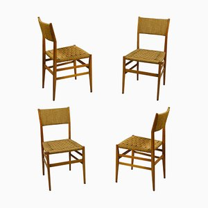 Model Light Dining Chairs by Gio Ponti for Cassina, 1950s, Set of 4