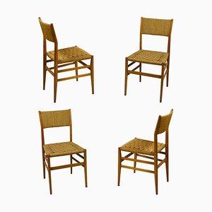 Modell Light Esszimmerstühle von Gio Ponti für Cassina, 1950er, Set of 4