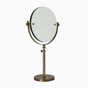 Mid-Century Swedish Brass Table Mirror