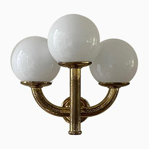 Italian Brass 3-Arm Sconce, 1940s
