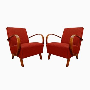 Lounge Chairs by Jindřich Halabala, 1930s, Set of 2
