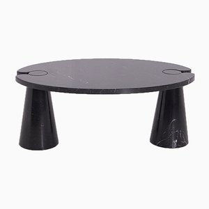 Eros Series Black Marble Coffee Table by Angelo Mangiarotti for Skipper, 1971