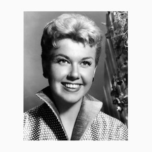 Doris Day Cheerful Portrait Archival Pigment Print Framed in White by Everett Collection