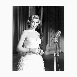 Glamorous Doris Day Archival Pigment Print Framed in Black by Everett Collection