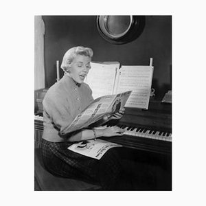 Doris Day Sings Archival Pigment Print Framed in White by Everett Collection