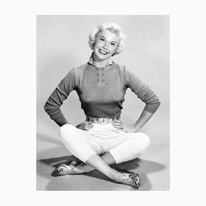 Doris Day Archival Pigment Print Framed in Black by Everett Collection