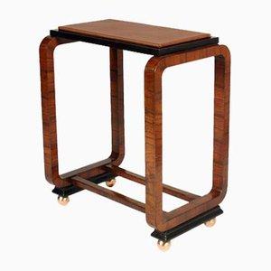 Art Deco Burr & Walnut Side Table by Osvaldo Borsani for Atelier di Varedo, 1930s