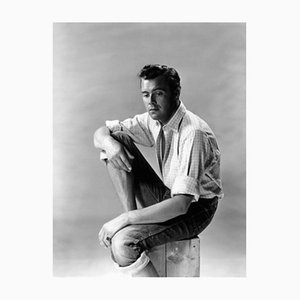 Dirk Bogarde Silver Gelatin Resin Print Framed in Black by Baron