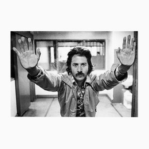 Dustin Hoffman On Set Archival Pigment Print Framed in Black by Everett Collection