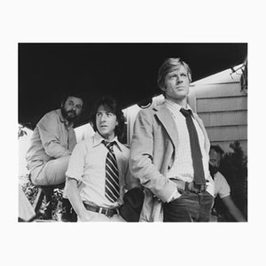 Pakula, Hoffman, Redford Archival Pigment Print Framed in Black by Everett Collection