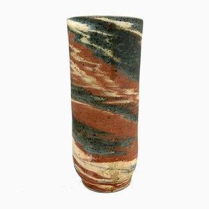 Vase en Céramique Fait à la Main par Eva Bod, Hongrie, 1970s