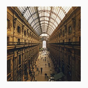 Galleria Vittorio Emanuele Oversize C Print Framed in Black by Slim Aarons