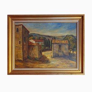 Vintage Öl auf Leinwand von L. Sicardi