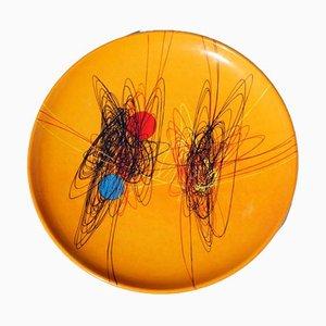 Spiralförmiger Töpfer-Teller von Roberto Crippa für Ceramiche D'Arte Liberati, 1950er
