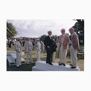 Henley Regatta Oversize C Print Framed in Black by Slim Aarons
