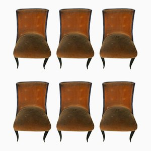 Dining Chairs in the style of Paolo Buffa, 1940s, Set of 6