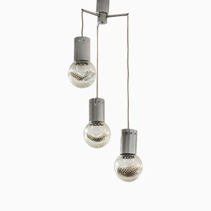Ceiling Lamp with 3 Glass Diffusers from Seguso, 1950s