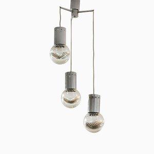 Deckenlampe mit 3 Glasleuchten von Seguso, 1950er