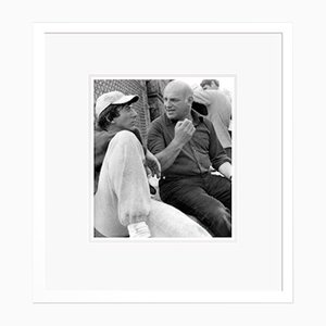 John Schlesinger & Dustin Hoffman Archival Pigment Print Framed in White by Everett Collection