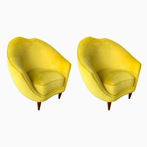 Italian Lounge Chairs by Federico Munari, 1960s, Set of 2