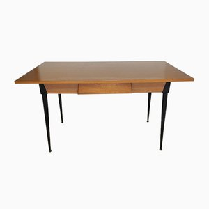 Two-Tone Formica Dining Table with Drawer, 1960s