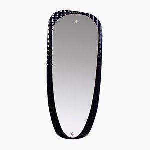 Freistehender Mid-Century Spiegel aus Glas