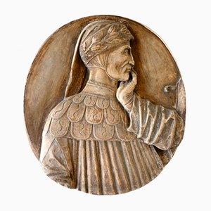Plaque Antique en Céramique de Signa Florence, Italie