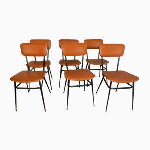 Leatherette Dining Chairs, 1960s, Set of 6