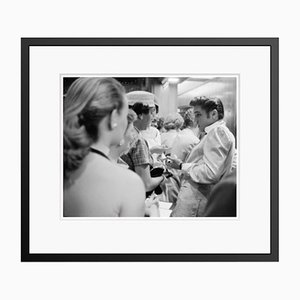 Elvis With Fans Archival Pigment Print Framed in Black by Phillip Harrington