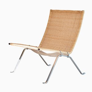 Wicker PK22 Lounge Chair by Poul Kjaerholm for Fritz Hansen