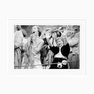 Hysterical Elvis Fans Archival Pigment Print Framed in White by Phillip Harrington