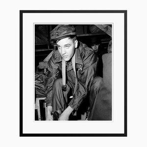 Private Elvis Presley in Costume Archival Pigment Print Framed in Black