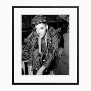 Privater geschnitzter Elvis Presley in Schwarzem Archivalischer Archivdruck