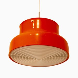 Orange Bumling Ceiling Lamp by Anders Pehrsson for Ateljé Lyktan, 1960s