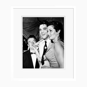 Lou Costello, Elvis Presley & Jane Russell Archival Pigment Print Framed in White