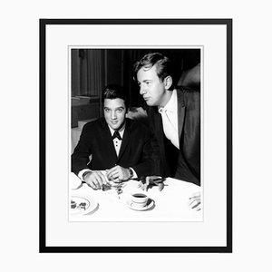 Elvis Presley & Bobby Darin in Las Vegas Archival Pigment Print Framed in Black