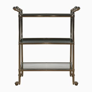 Polished Chrome Bar Trolley