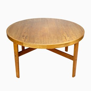 Tavolino da caffè D105 in quercia di Jørgen Bækmark per FDB Furniture, Danimarca, 1963