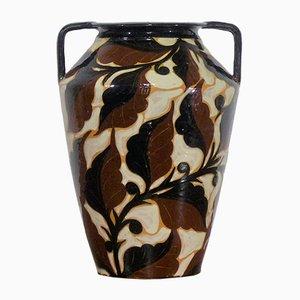 Art Deco Glasierte Vase, 1930er