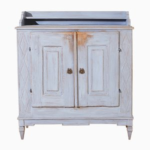 Gustavian Cabinet with Fluting, 1840s