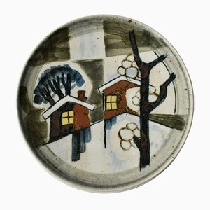 Large The Four Seasons Wall Plate by Gösta Millberg for Rörstrand, 1970s